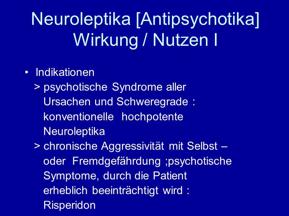 Neuroleptika [Antipsychotika] Wirkung / Nutzen I